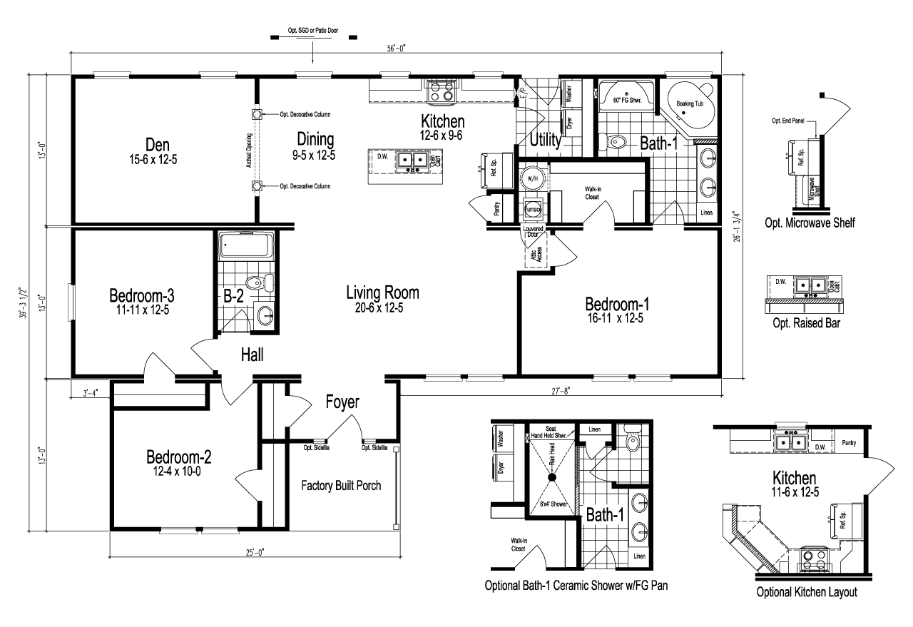The Logan Manufactured Home Floor Plan Or Modular Floor Plans