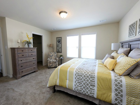 Master bedroom view 2 in the Drake model - a 4 Bedroom, 2 Bath, 1,882 Sq. Ft. modular Palm Harbor home built by Nationwide Homes
