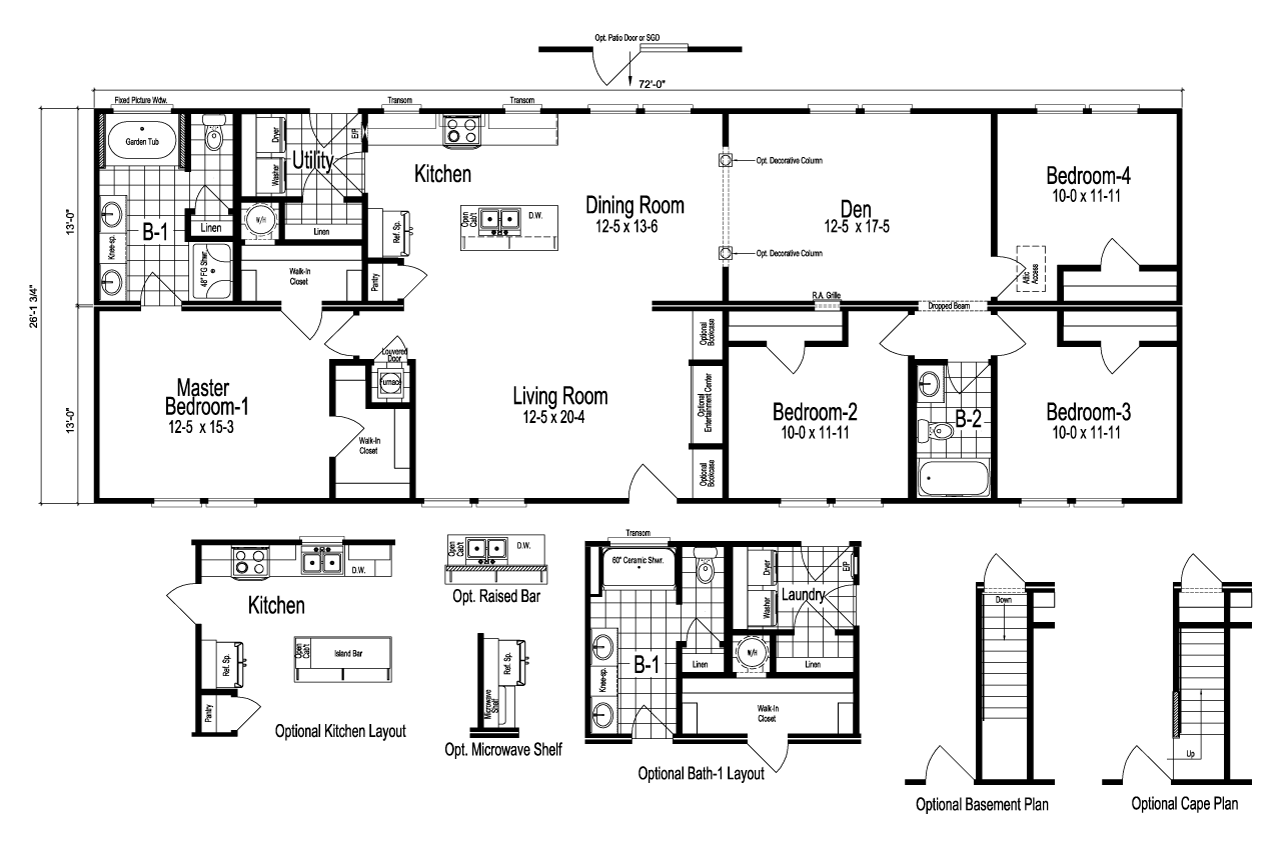 The Drake manufactured home floor plan or modular floor plans
