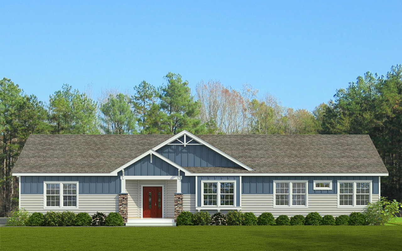 The stanley ii manufactured home floor plan or modular for Builders plan service augusta ga