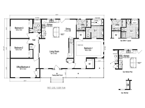 >The Greenbrier III - First Level Floor Plan