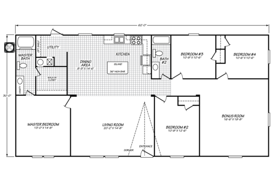 Floor Plan:Model VE32624V Floor Plan