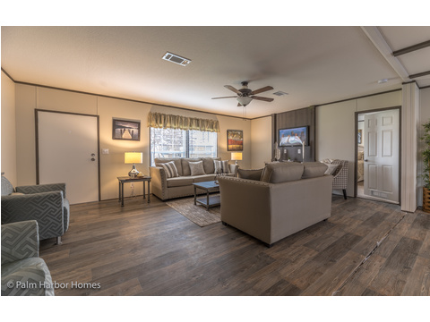 Spacious Living Room.  Velocity by Palm Harbor Homes - 4 Bedrooms, 2 Baths, 1860 Sq. Ft.