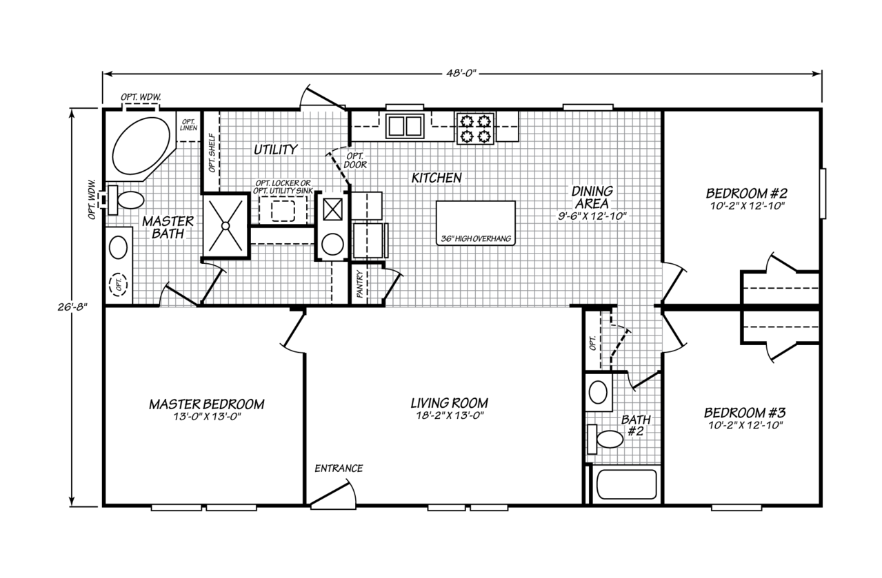 View The Villager floor plan for a 1279 Sq Ft Palm Harbor ...  X Mobile Home Floor Plan on 26 x 40 home plans, 30 x 30 home plans, 20 x 20 home plans,