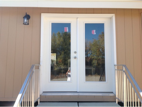 Gorgeous exterior french doors - The American Dream I HI2856A, Palm Harbor Homes