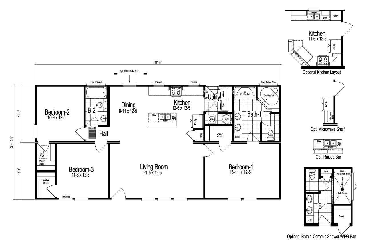 The Bristol manufactured home floor plan or modular floor ...