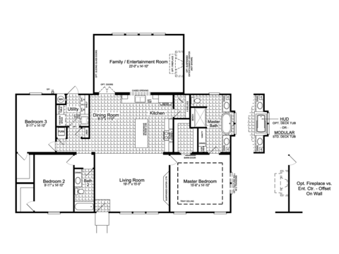 >The Urban Homestead Flex FT47563A floor plan with Family / Entertainment Room Option, 2,103 Sq. Ft.