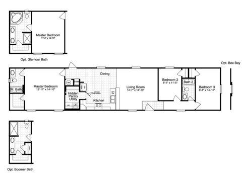 >The Trinity FFG376D5 Floor Plan