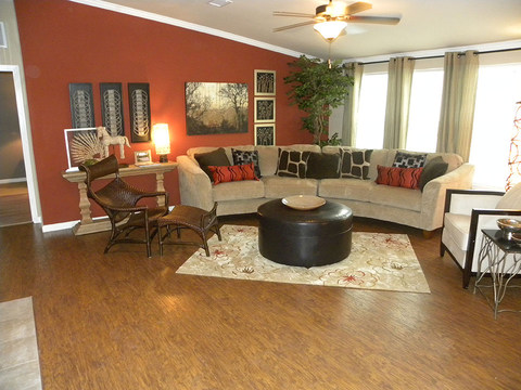 Living room in another Bonanza Flex model, with a different accent paint palette