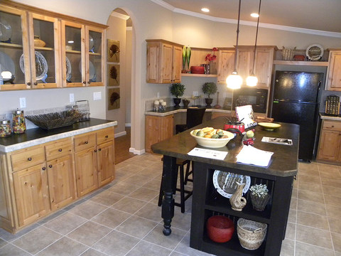 Kitchen in another Bonanza Flex, tastefully finished with two-tone painting
