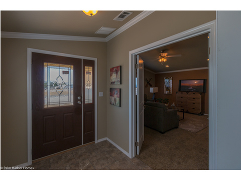 Media room by the front entrance - The Bonanza Flex SCXE64F1 or VR47643A by Palm Harbor Homes