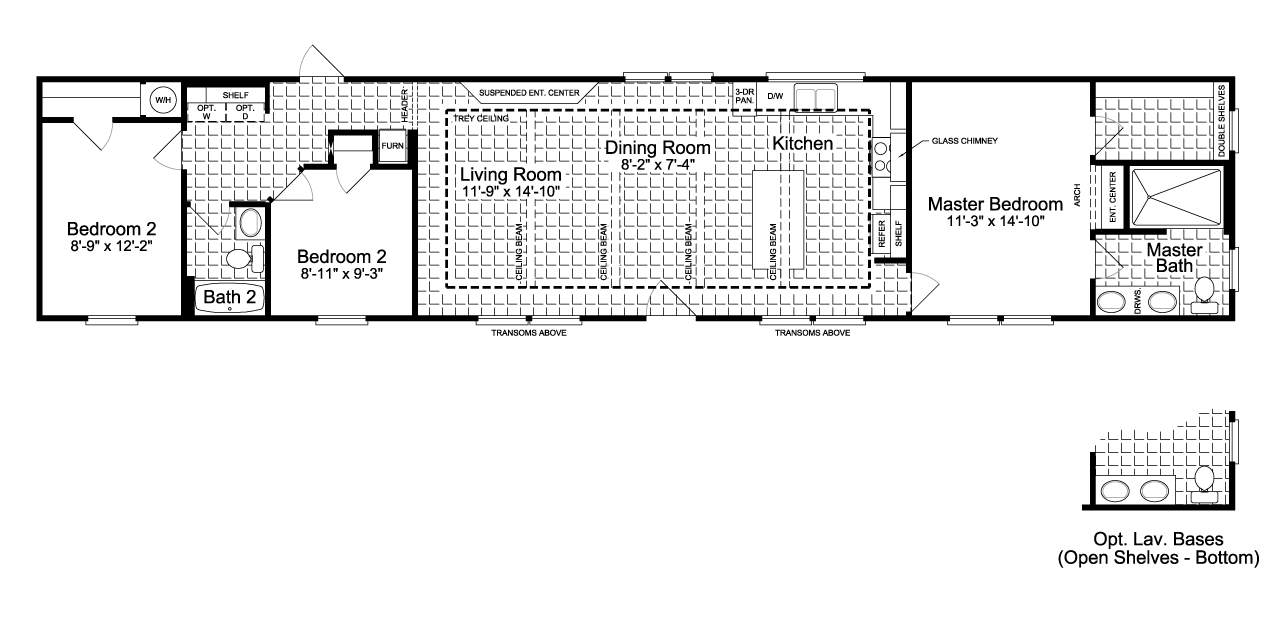 The Santa Fe Ff16763g Manufactured Home Floor Plan Or