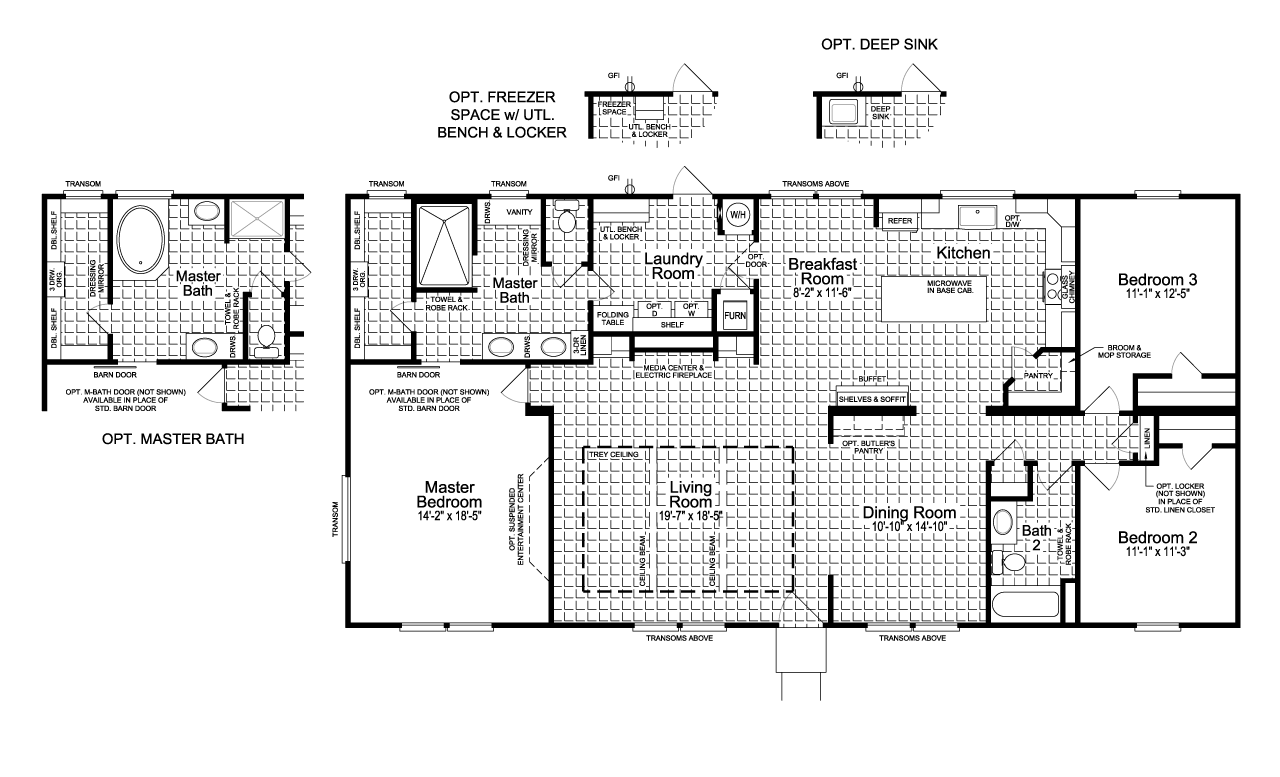 The Vintage Farmhouse Ft32643c Manufactured Or Modular Home Floor Plan Or Modular Floor Plans