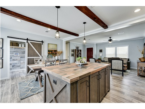 Large Kitchen Island - The Horizon 48 Limited Edition - 3 Bedroom, 2 Bath - 1440 sq. ft.