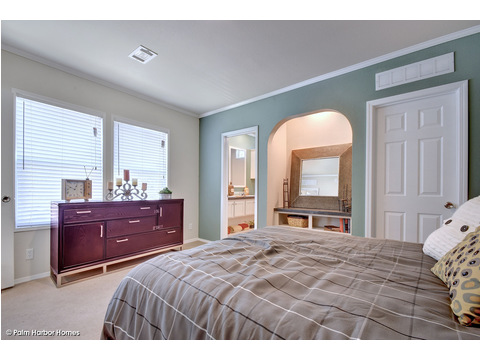 Master bedroom - The Grand Haven FF16763H by Palm Harbor Homes