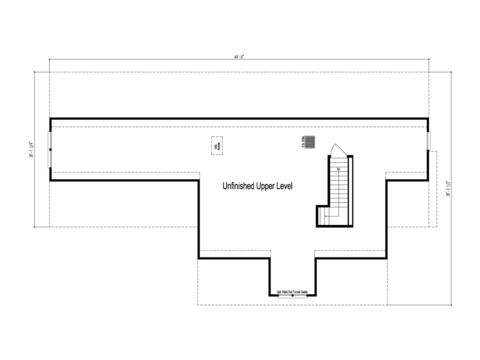 The Maiden I -  UNFINISHED Second Level Floor Plan - Square footage not included