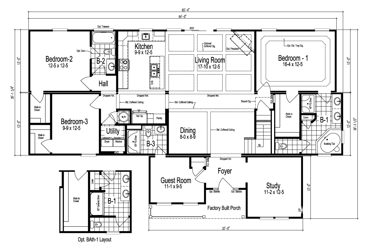 View The Maiden I Floor Plan For A 2025 Sq Ft Palm Harbor