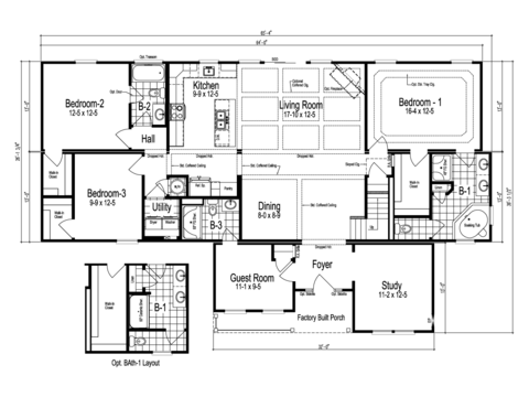 >The Maiden I - First Level Floor Plan