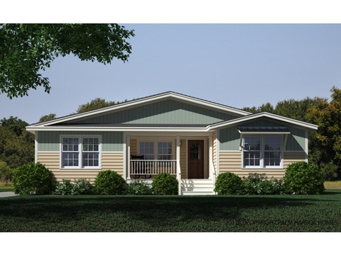 Exterior shown with metal roof available by others - The Rockwall SCWD72A9 by Palm Harbor Homes
