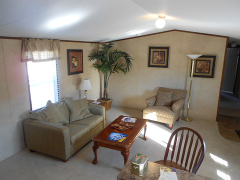 Spacious living room with lots of natural light! You won't have a problem hosting a party in this home :) - Model 16763C
