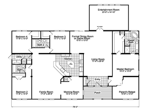 Flex Room - Entertainment Room + Optional Family Room Facing Kitchen - The Gotham Flex SCYD76F8 by Palm Harbor Homes