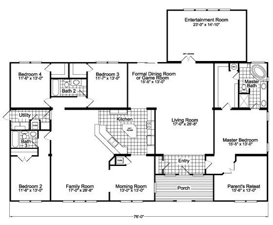 View The Gotham Flex Floor Plan For A 3301 Sq Ft Palm Harbor