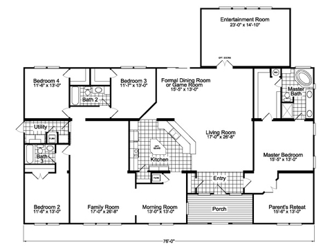 Flex Room - Entertainment Room + Optional Living Room Facing Kitchen - The Gotham Flex SCYD76F8 by Palm Harbor Homes