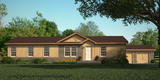 Artist's rendering with optional Estate Exterior - The Harbor House FTP360M6 Palm Harbor Homes