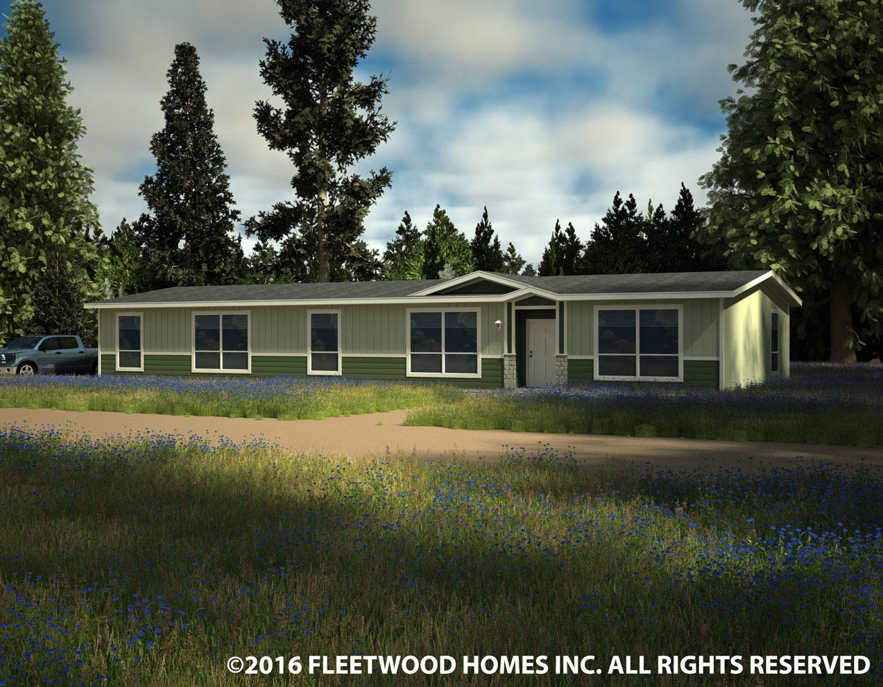 30764B Palm Series Private Label manufactured home floor plan or