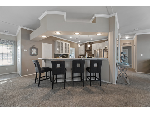 Hacienda III Kitchen Serving Bar by Palm Harbor Homes - 4 Bedrooms, 3.5 Baths, 3,012 Sq. Ft.