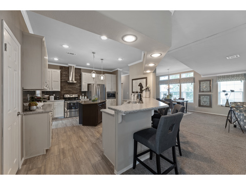 Hacienda III Kitchen Dining Bar by Palm Harbor Homes - 4 Bedrooms, 3.5 Baths, 3,012 Sq. Ft.