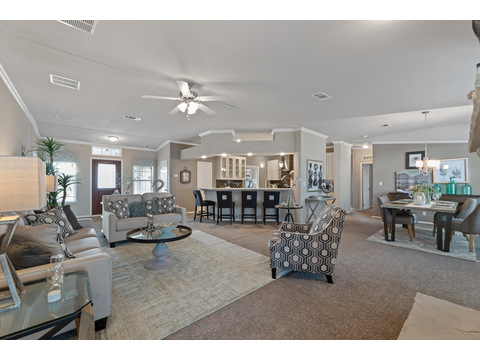 Hacienda III living room by Palm Harbor Homes - 4 Bedrooms, 3.5 Baths, 3,012 Sq. Ft.