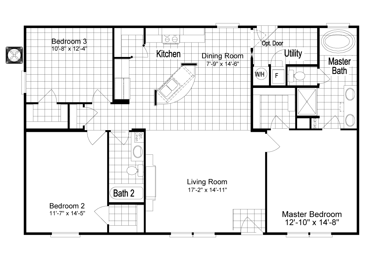 the homeland ml30483h manufactured home floor plan or modular