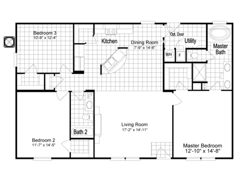 >The Homeland ML30483H Floor Plan