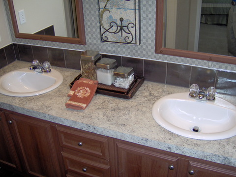 Full master bath offers two sinks (known as the Marriage Savers). - The Cortez DDP348G1 by Palm Harbor Homes