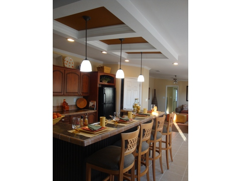 Optional raised bar in kitchen - Sequoia T4766T by Palm Harbor Homes