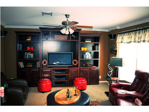 The media room/man cave! Your house will be the place to go for all the sporting events!  The Landrace by Palm Harbor Homes - 3 Bedrooms, 2 Baths, 1920 Sq. Ft.