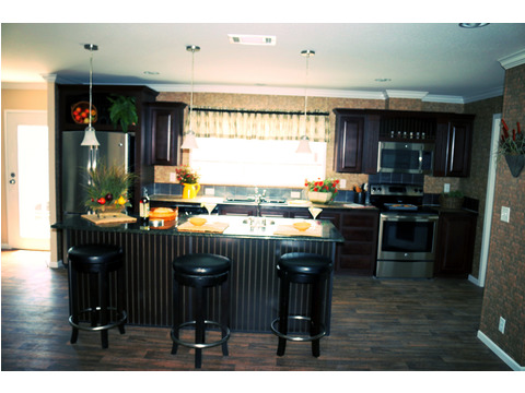 A great view of the entire kitchen.  The Landrace by Palm Harbor Homes - 3 Bedrooms, 2 Baths, 1920 Sq. Ft.