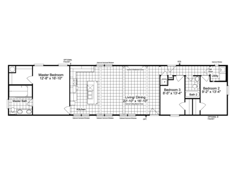 The Encore Sm18763e Manufactured Home Floor Plan Or Modular Floor Plans
