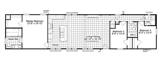 Floor Plan:The Encore SM18763E Floor Plan