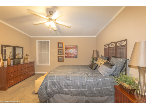 Another view of the Master bedroom in The Pelican Bay - Palm Harbor Manufactured Home in Florida - 3 Bedrooms, 2 Baths, 2,022 Sq. Ft. - 30' x 68'