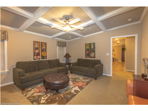Love the ceiling in this media room - The Pelican Bay - Palm Harbor Manufactured Home in Florida - 3 Bedrooms, 2 Baths, 2,022 Sq. Ft. - 30' x 68'