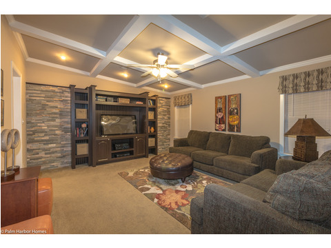 You will love and live in this fabulous media room and den in The Pelican Bay - Palm Harbor Manufactured Home in Florida - 3 Bedrooms, 2 Baths, 2,022 Sq. Ft. - 30' x 68'