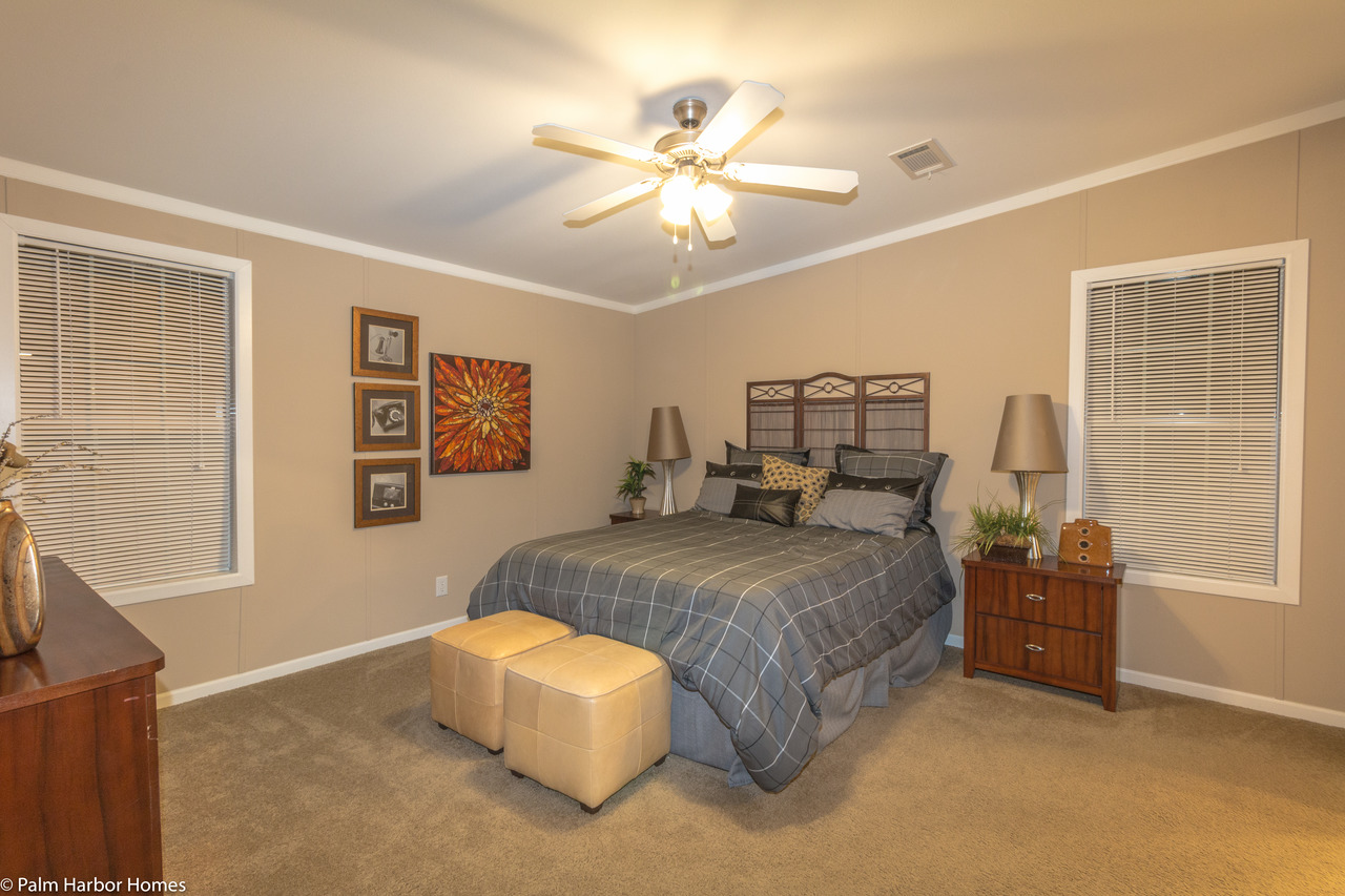 View pelican bay floor plan for a 2022 sq ft palm harbor for Rv with 2 master bedrooms