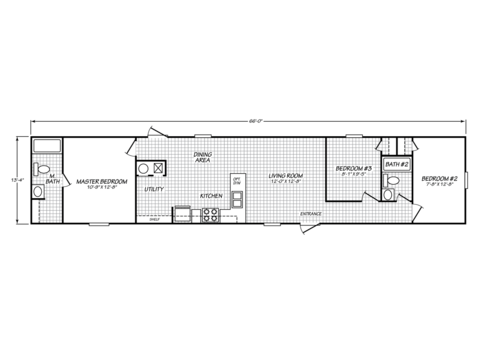>Model VU14663U Floor Plan