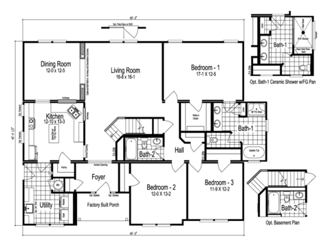 >The Easton - First Level Floor Plan