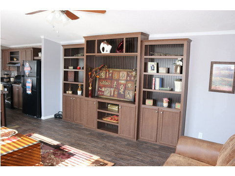 Optional built-in entertainment center - The Home Box Office by Palm Harbor Homes