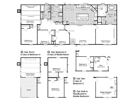 >The Homerun ML30724R Floor Plan