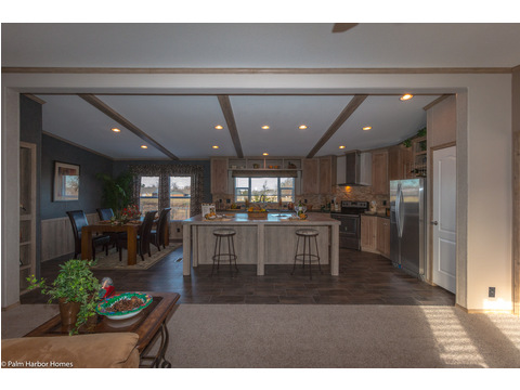 View of kitchen and dining area from living room - The Homerun ML30724R by Palm Harbor Homes