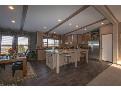 Spacious eat-in kitchen with large island - The Homerun ML30724R by Palm Harbor Homes